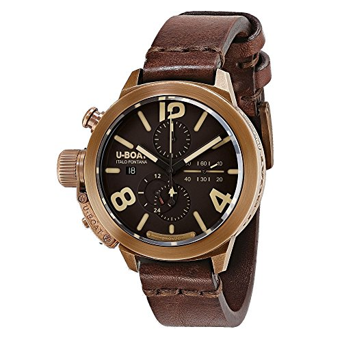 U-Boat Classico Automatic Watch, Bronze, Brown, 45mm, Chronograph, 8063