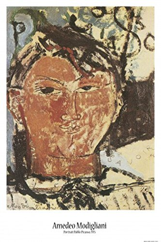 Set: Amedeo Modigliani, Bildnis Pablo Picasso, 1915, Detail Poster (91x61 cm) Inklusive 1x 1art1® Collection Poster -