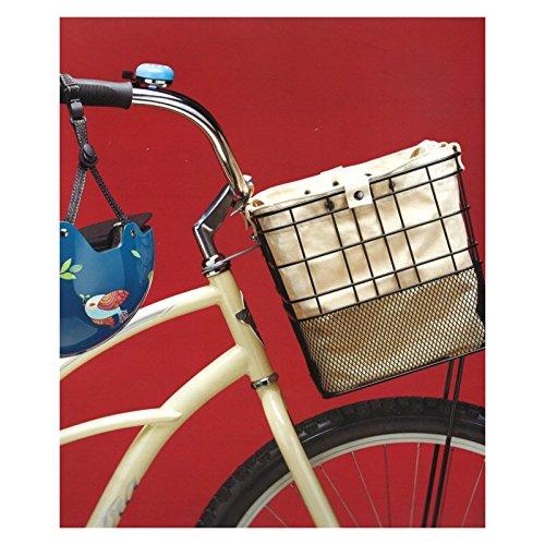 Electra Bicycle Electra Trage- Korbtasche Fahrrad mit Motiv Befestigung Transport Baumwolle, 5333 Weiß