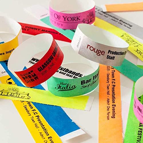 AA Wristbands Braccialetti in Tyvek, Stile Carta, Sicurezza, Festival, Confezione da 100, Colore: Rosso