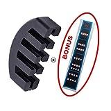 Sourdine Pour Violon Facile à Utiliser 5 Dents Pour Violon 4/4 Caoutchouc Léger Doux et Sticker Autocollant de Violon Touche Frette Marqueur par Meiso