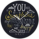 Giftsmate You Are My Sunshine MDF Round Wall Clock for Home, Diameter - 10 inches