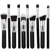 Joly-Makeup-Brush-Sets-Foundation-Blush-Eyeshadow-Brushes-Set-of-10-Pro-Cosmetic-Makeup-Tools-4-Colors-for-Your-Choice-(Black+Silver)