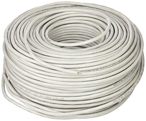LogiLink CPV0033 Installationskabel Kat.6 CCA U/UTP EconLine aus PVC in grau 100 m (Cat Meter 100 6-ethernet-kabel)