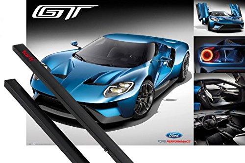 poster-hanger-autos-poster-91x61-cm-ford-gt-2016-inklusive-ein-paar-1art1r-posterleisten-schwarz