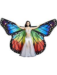 Calcifer marca nueva egipcio Egipto Monarch mariposa Angel alas de Isis danza del vientre con 2 telescópico de…