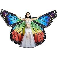Calcifer marca nueva egipcio Egipto Monarch mariposa Angel alas de Isis danza del vientre con 2telescópico de incienso, multicolor