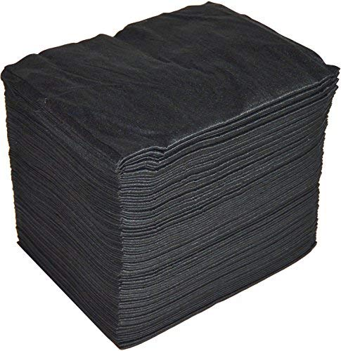 Handtücher Einweg spun-lace 40* 80cm, 100Stück, Friseur/Ästhetik, Schwarz