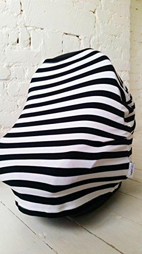 giraffekidz per allattamento, Bianco e nero, 3utilizza; Coprisedili Auto, (White Pattern Sciarpa)