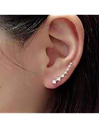 816f03dc30fd Pendientes cristalinos del Rhinestone del gancho del oído del perno  prisionero de 7 Cristales abofetea aro escalador pendiente…