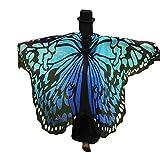 TUDUZ Schmetterling Kostüm Frauen, Damen Kostüm Verkleidung für Karneval Fasching Party (Blau)