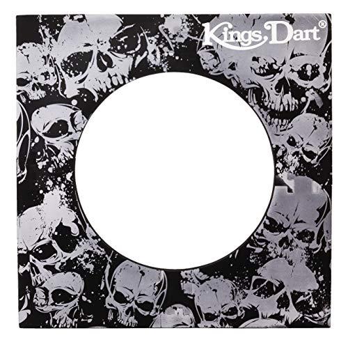 Kings Dart Backboard | Surround für Dartscheiben mit 44.5 cm | Rot | 70x70 cm Skull
