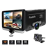 podofo Dashcam 360 Grad Panorama Dual Kamera Auto Blockflöten DVR Auto Video mit Kamera Gravity Sensor Night Vision