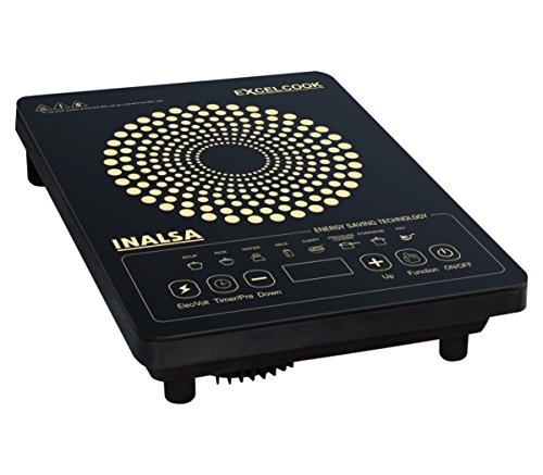 Inalsa Excel Cook 1600-Watt Induction Cooktop (Black/Golden)