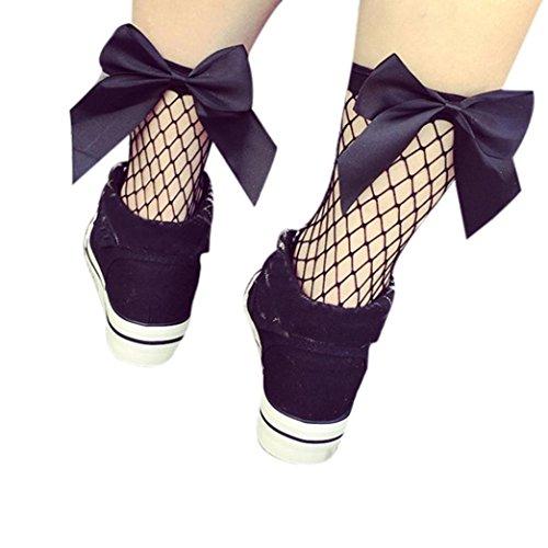 Hohe Knöchel Rüsche Fischnetz Socken Bluestercool Frauen Mesh Lace Fish Net Kurze Socken (Rüschen Kostüme Rock)