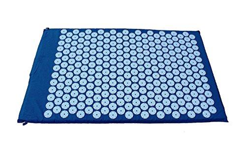 Akupressurmatte Akupressur Kissen Massagematte Nagelmatte Akupunkturmatt 68x42 cm (blau)
