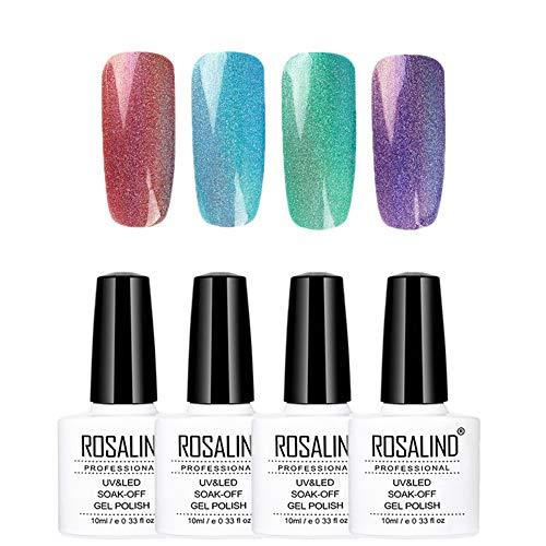 ROSALIND esmalte gel uñas holográfico colorido larga