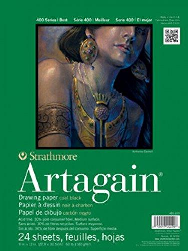 Strathmore 400 Series Artagain Pad Zeichenblock, 30,5 x 45,7 cm, mit Klebeband, 24 Blatt