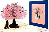 Hochzeitskarte Pop Up 3D Karte Grußkarte für viele Gelegenheiten Valentinstag Hochzeitstag Hochzeit Jahrestag Geburtstag Geschenkkarte Faltkarte