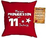 Geschenk für Kinder Kissen mit Füllung und Urkunde Meine Prinzessin