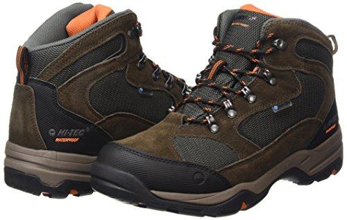 Hi-Tec-Mens-Storm-Waterproof-Light-High-Rise-Hiking-Brown-Dark-ChocolateDark-TaupeBurnt-Orange-041-9-UK-43-EU