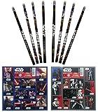 Unbekannt Star Wars - 16 TLG. Set 8 Bleistifte mit Radiergummi + 8 Stickerbogen Mitgebsel Kindergeburtstag