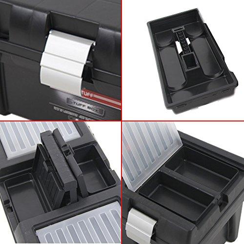 Kunststoff Werkzeugkoffer STUFF Semi Profi Alu 20″, 52,5×25,5cm Kasten Werzeugkiste Sortimentskasten Werkzeugkasten Anglerkoffer - 3