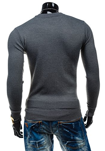 BOLF - Pull - Tricot – Sweatshirt – S-WEST 6005 - Homme Gris