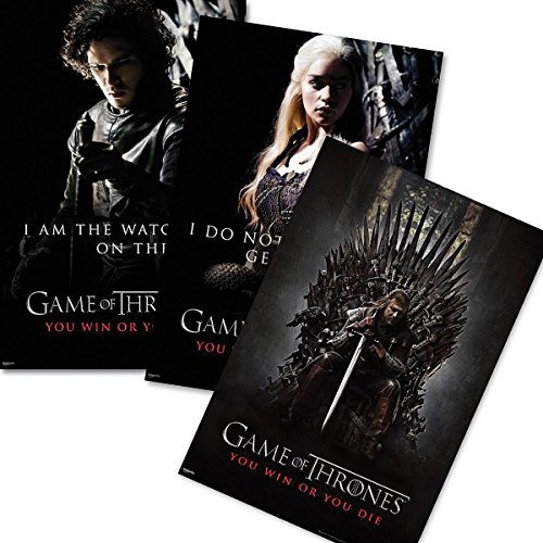Game of Thrones 3-tlg. Poster Set - You win or You die (Eiserne Thron-poster)