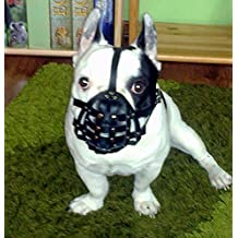 "Luz Bozal para perro de piel para Bulldog francés ""frenchies"