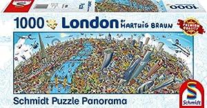 Schmidt Spiele Puzzle 59596Hartwig marrón, Ciudad de Londres, Puzzle de 1000Piezas