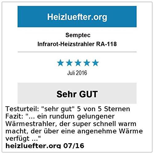 Semptec Dunkelstrahler: Profi-Infrarot-Heizstrahler RA-118, Fernbed, 1.800 W, IP55 (Dunkelheizstrahler) - 4