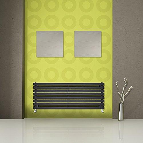 Hudson Reed - Radiateur Vitality Noir Brillant 472 x 1600mm - Design Horizontal