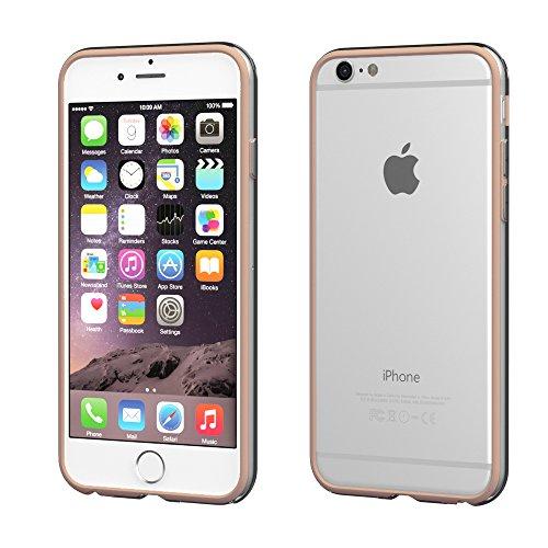 iPhone 8+ Hülle / iPhone 7+ Hülle - EAZY CASE Silikon Bumper für Apple iPhone 7 Plus & iPhone 8 Plus - Flexible Schutzhülle als Rahmenschutz in Weiß Hellbraun