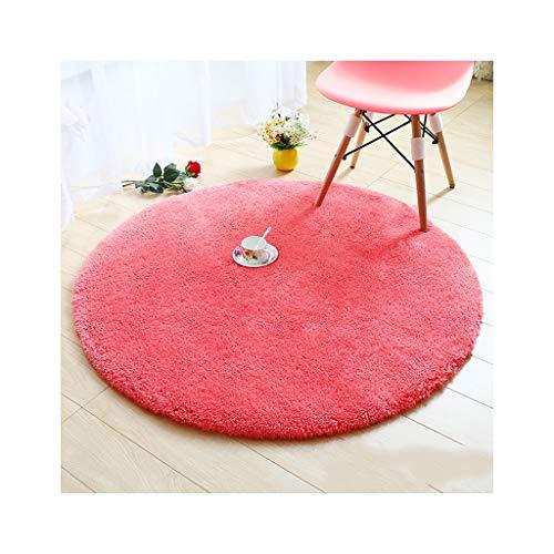 FOO Teppiche Runde Teppich Anti-Rutsch-, Solid Color Sofa Tee Tischdecke, dekorative Wohnzimmer Schlafzimmer Teppich Dicke-30mm Teppich zeitgenössischer Wohn- und Schlafbereich T -