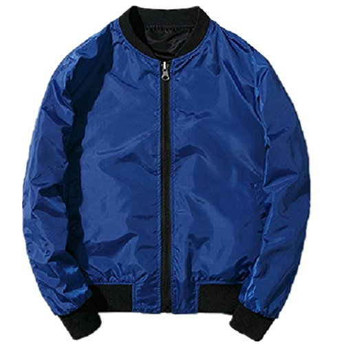 BOMOVO Herren Light Bomber Jacket Herren Bomberjacke verschiedene Farben Blau