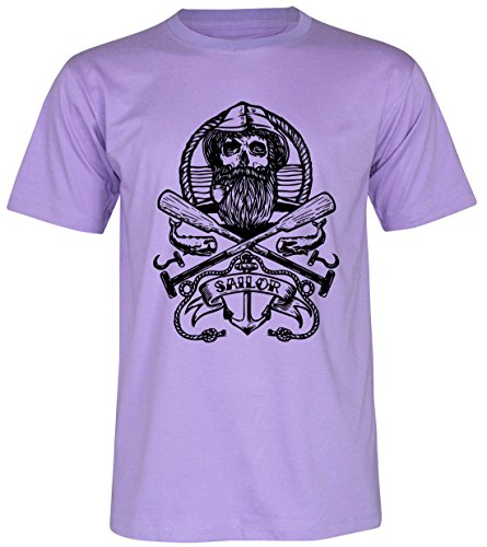 PALLAS Unisex's Old Sailor Vintage T Shirt Purple