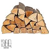 60kg (2x30kg) Brennholz Kaminholz 100% Buchenholz Feuerholz 25cm - kammergetrocknet, ofenfertig und einsatzbereit + 20 Stück Anzünder