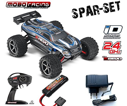 Traxxas 71054-1 E-Revo 1:16 brushed RTR 2,4GHz 4WD RC-Truggy 230V Lader silber