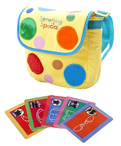 Image of Mr. Tumble Textured Spotty Bag with Makaton Cards