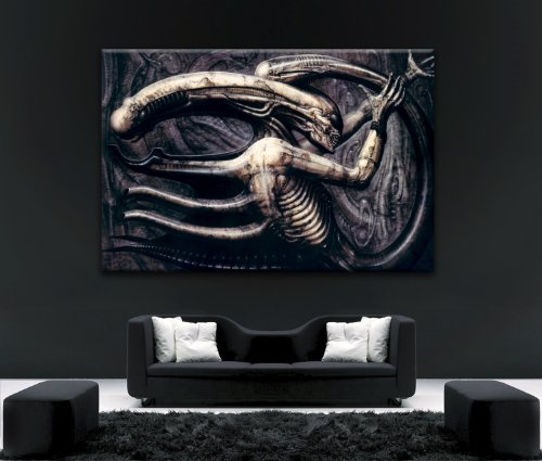 ALIEN-V-PREDATOR-Motiv-Leinwandbild-NO12-hochwertig-Kiefernholzrahmen-10160-cm-x-6096-cm-Schner-Kunstdruck-auf-Leinwand-gerahmt-aufhngfertig