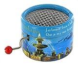 Boîte à musique à manivelle en carton renforcé - A la claire fontaine (traditionnel)