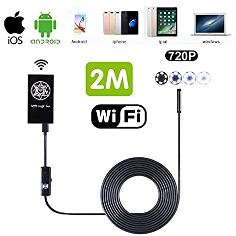 Sans fil Wifi Endoscope, SGODDE Caméra Endoscope Caméra d'inspection étanche