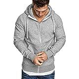Mantel Herren Langarm, Holeider Jacke Herbst Winter Lässig Einfarbig Sweatshirt Pullover Outwear Hoodie Kapuzenpullover Trainingsanzüge (M-XXXL)