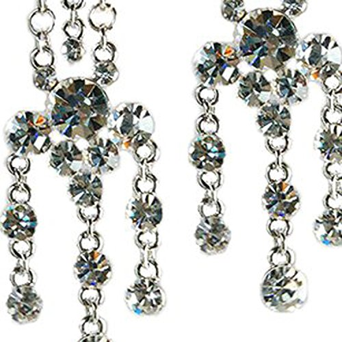 Vintage Swarovski Crystal Earrings Long Chandelier on a Silver Rhodium Frame, in Clear Diamond, Amethyst Purple, Sapphire Blue & Multi Colour Options. Rot Gucci Frames