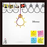 #4: ArtzFolio Creative Light Bulb Printed Bulletin Board Notice Pin Board Cum Dark Brown Framed Painting 12 x 12inch