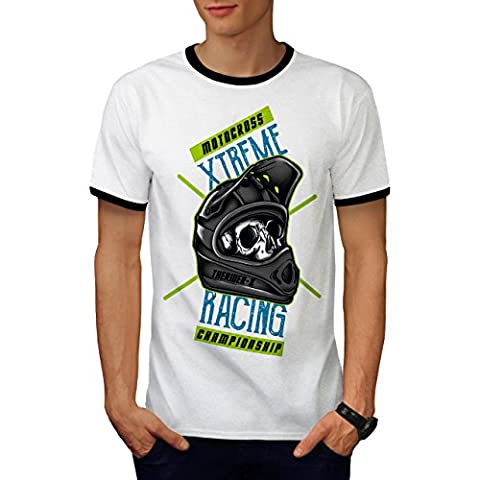 motocross Extrême sport Homme L T-shirt à sonnerie | Wellcoda