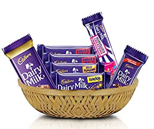 Cadbury Assorted Chocolates Gifting Tokri, 254g