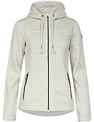 Icepeak Lunette - Chaqueta Polar para Mujer, color Blanco, talla 34 EU