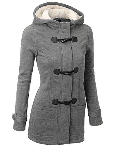 Mujer Invierno Abrigo Casual Sudadera con Capucha Chaqueta de Capa Jacket Parka...